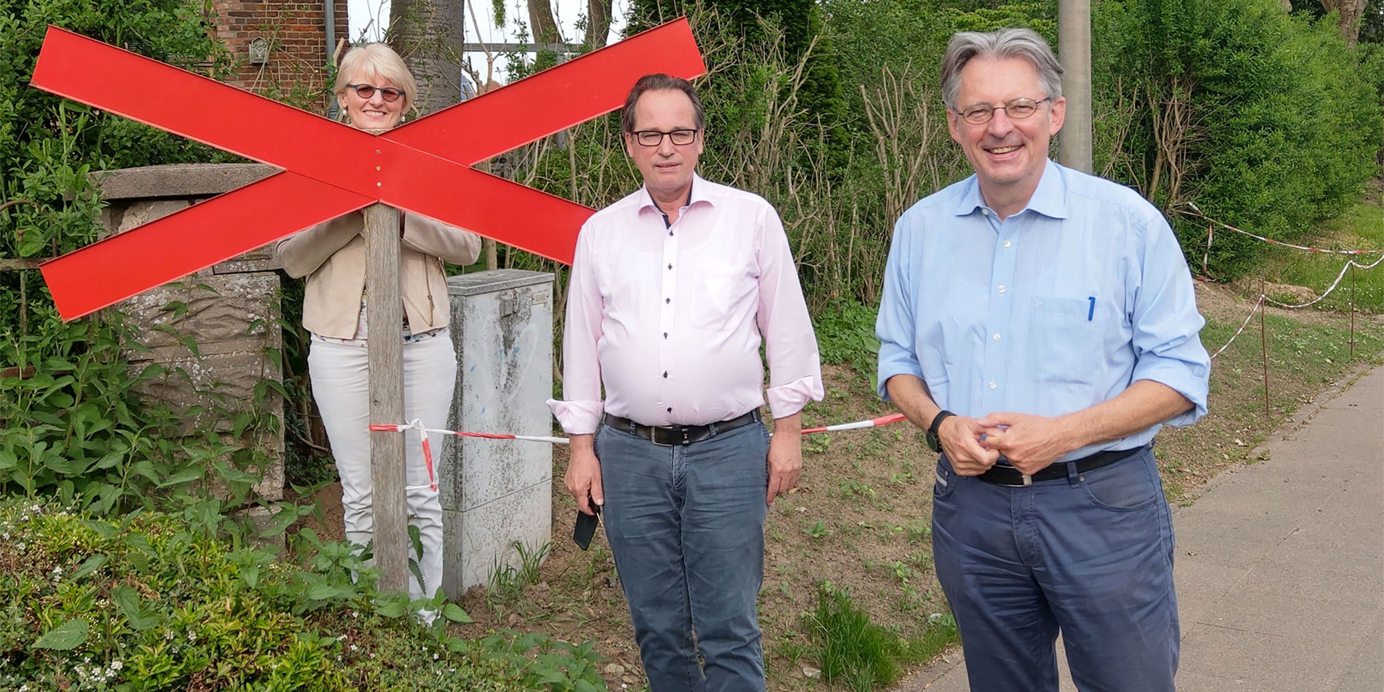 v.l. Birgit Härtel, Reinhard Fromme, Achim Post